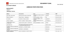 Libros de texto - Bachillerato - Curso 2021-22