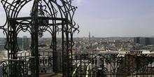 Vista de Bruselas desde el Museo de la Música, Bélgica