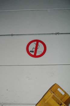 Pictograma prohibido fumar en las instalaciones