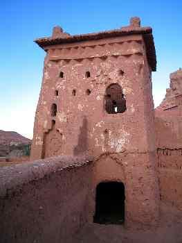 Torre defensiva de adobe, Ait Benhaddou, Marruecos