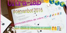 #cervanbot: Circuitos con Ultra-lab - Taller de circuitos con cinta de cobre adhesiva (grabado por alumnos)