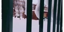 Nieve en Moratalaz