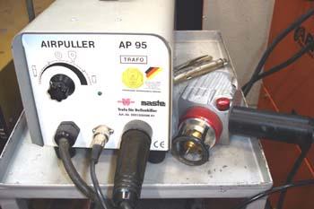 Equipo electo-neumático de extracción de pequeños bollos