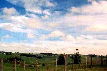 Colinas en la Isla norte, Nueva Zelanda