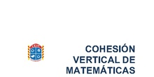 Cohesión metodológica matemáticas