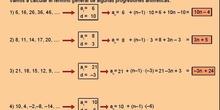 Progresión aritmética: 4.Cálculo del término general