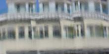 Vista de edificio a través de una ventana de cristal, SAo Paulo,
