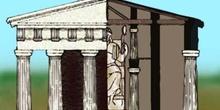Alzado de un templo griego