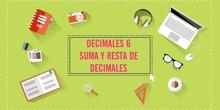 LOS DECIMALES 6. SUMA Y RESTA DE DECIMALES