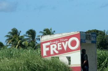 Parada de autobús en Porto de Galinhas, Pernambuco, Brasil