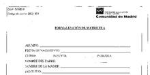 Documentos Matrícula Infantil
