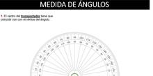 Medida y trazado de ángulos