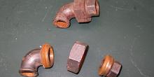 Enlace tres piezas acero