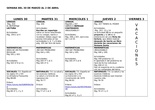 Deberes semana 30 de marco al 2 de abril 6º de primaria