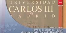 Toma de posesión del nuevo rector de la Universidad Carlos III, Daniel Peña