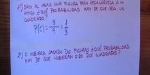 Ejemplo de cálculo de la probabilidad de un suceso compuesto. Figuras.