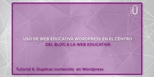 Curso Wordpress básico. Tutorial 6. Duplicar contenido en Wordpress