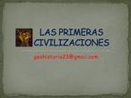 Presentación Primeras Civilizaciones Fluviales