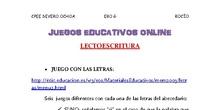 JUEGOS ONLINE LECTOESCRITURA EBO G