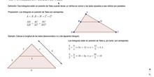 Triángulos en posición de Tales