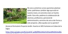 Formulario jardín huerto