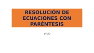Resolución de ecuaciones con paréntesis
