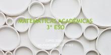 Matemáticas Académicas 3º ESO. IES Profesor Julio Pérez