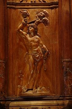 Detalle de la sillería del coro de la Catedral de Huesca. San Se