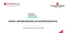 """Presentación del Proyecto """"RAÍCES"""" en el CTIF Madrid Sur"""