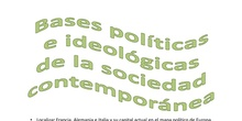 Bases políticas e ideológicas de la sociedad contemporánea aún sin terminar
