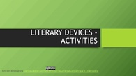 Literary devices activities