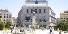 Cámara de Televisión en la Plaza de Isabel II
