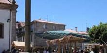 Picota y mercado medieval en Trancosso, Beiras, Portugal