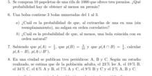 Problemas de probabilidad 5-8 Axiomas de la probabilidad