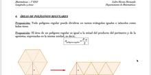 Área de polígonos regulares