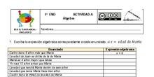 Actividades Grupos Interactivos IES El Carrascal Matemáticas 1ºÁlgebra