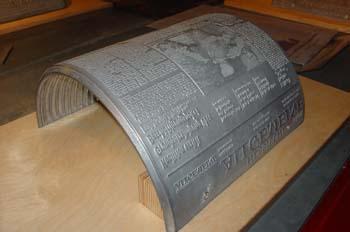 Teja tipográfica de metal
