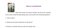 Alice in wonderland comprehension