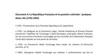 Séance 2: Histoire du colonialisme français. DOC4 La République françaiset la question coloniale