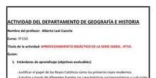 APROVECHAMIENTO DIDÁCTICO DE LA SERIE ISABEL , RTVE.