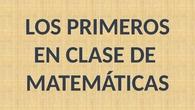 LOS PRIMEROS EN MATEMÁTICAS. CEIP PINOCHO 2017/18