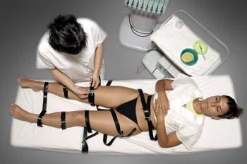 Gimnasia pasiva con cintas de caucho: colocación de cintas de ca