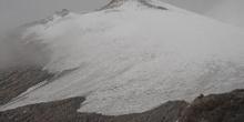 El glaciar del Pico de Orizaba (5750m) visto desde los 5000m de
