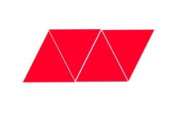 Desarrollo de un tetaedro