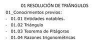 Conocimientos previos resolución de triángulos 1 Bachillerato