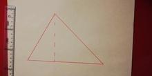 Área del triángulo acutángulo