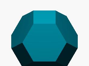 Poliedro limitado por hexágonos y cuadrados