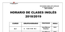 horario inglés profesores 2018