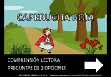 Preguntas comprensión lectora Caperucita Roja Nivel 1