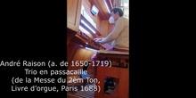 Trio en passacaille de André Raison
